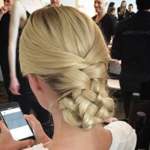 New York Stylist Assists at Fashion Week for Moroccanoil